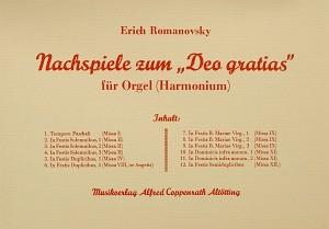 "Romanovsky: Nachspiele zum ""Deo gratias"""