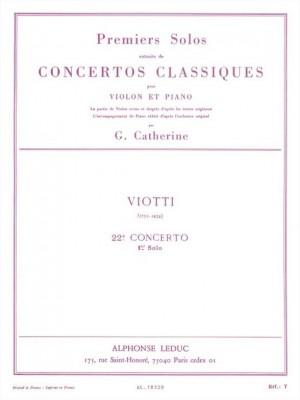 Giovanni Battista Viotti: Premiers Solos Concertos Classiques