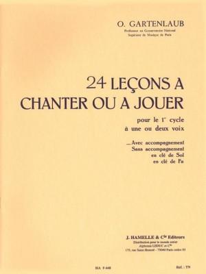Gartenlaub: 24 Lecons A Chanter Ou A Jouer