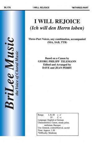 Georg Philipp Telemann: I Will Rejoice
