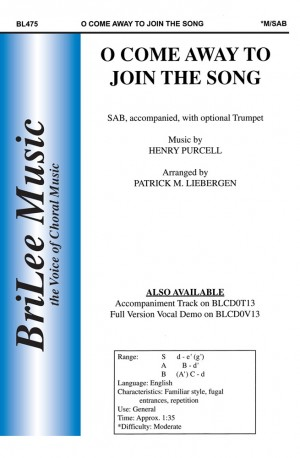 Patrick M. Liebergen: O Come Away To Join The Song