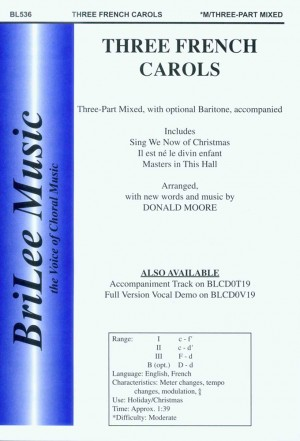 Donald Paul Moore: Three French Carols