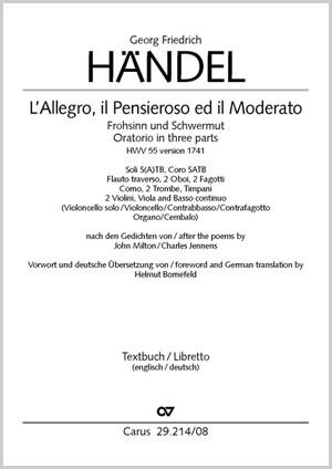 Georg Friedrich Händel Lallegro Il Penseroso Ed Il Moderato