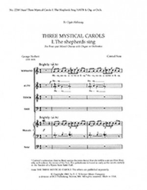 Conrad Susa: Three Mystical Carols: The Shepherds Sing
