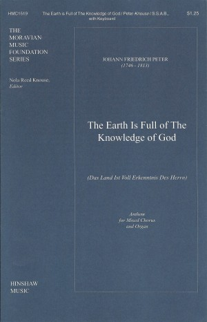 Johann Fr. Peter: The Earth Is Full Of The Knowledge Of God