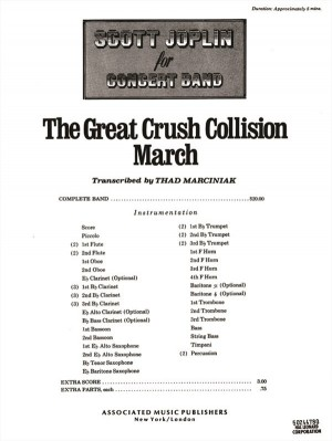 Scott Joplin: The Great Crush Collision March - Score For Concert Band
