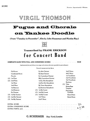 Virgil Thomson: Fugue And Chorale On Yankee Doodle - Full Score