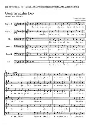 Calvisius: Gloria in excelsis Deo (G-Dur)
