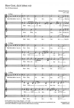 Praetorius: Te Deum (C-Dur)