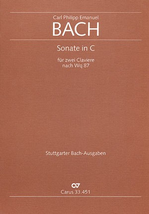 Bach, CPE: Sonate in C (Wq 87)