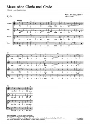 Bruckner: Messe ohne Gloria und Credo in d (WAB 146)