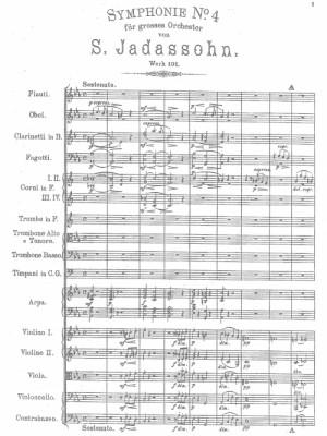Jadassohn, Salomon: Symphony No.4 in C minor Op 101