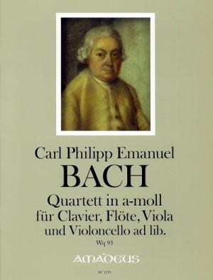 Bach, C P E: Quartet in A minor Wq 93