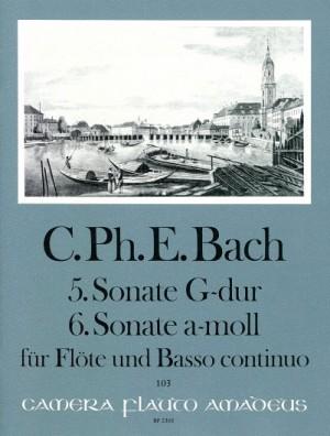 Bach, C P E: Sonatas No. 5 G major & No. 6 A minor Wq 127/128