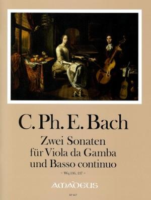 Bach, C P E: Sonatas for Viola da Gamba & bc,Two Wq 136, 137