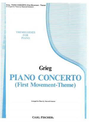 Grieg, E: Klavierkonzert a-Moll . Thema op. 16