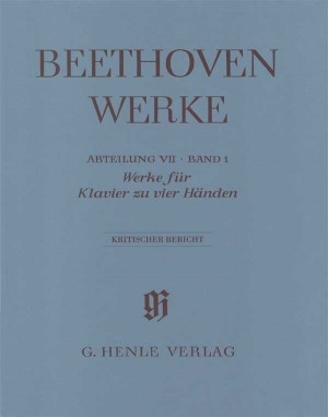 Beethoven, L v: Works for Piano Four-hands Abteilung VII, Band 1