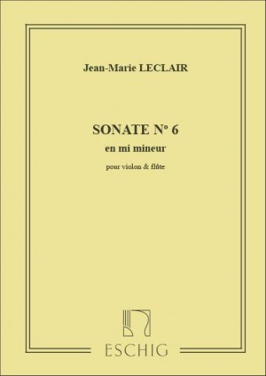Leclair: Sonate Op.3, No.6 in E minor