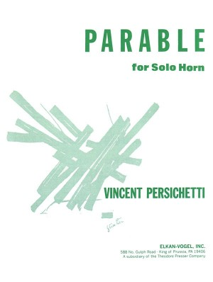 Persichetti Vincent Parable Viii Op120 Solo Horn Book