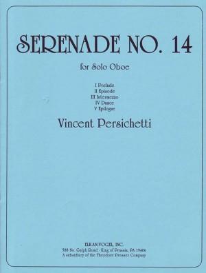 Persichetti Vincent Serenade No14 Op159 Oboe Solo Book