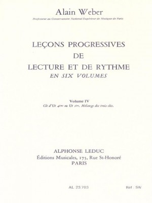Alain Weber: Progressive lessons of reading and rhythm - Vol. 4