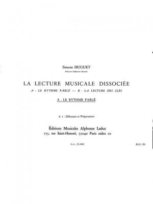Simone Huguet: Lecture Musicale Dissociee A-Le Rythme Parle A1