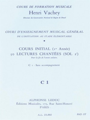 Henri Vachey: 50 Singing Exercises