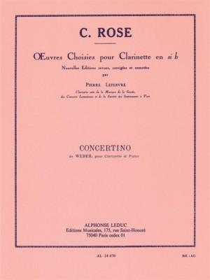 Carl Maria von Weber: Concertino Op 26