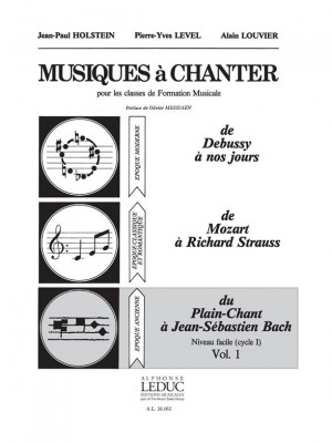 Jean-Paul Holstein_Pierre-Yves Level: Music for Voice for Music Theory classes (Vol. 1)