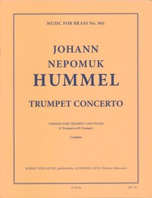 Hummel: Trumpet concerto in e-flat (mi b) pour trompette (si b ou ut) et piano