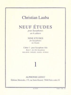 Christian Lauba: Neuf Etudes (9) pour Saxophones, cahier 1