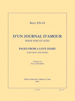 Betsy Jolas: D'un Journal D'amour