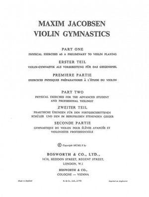 M. Jacobsen: Violin Gymnastics - Physical Exercises