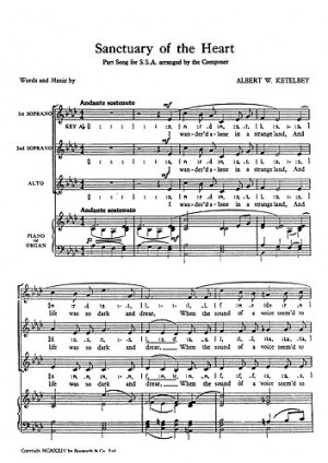 Ketelbey a w sanctuary of the heart ssa presto sheet music ketelbey a w sanctuary of the heart ssa ccuart Image collections
