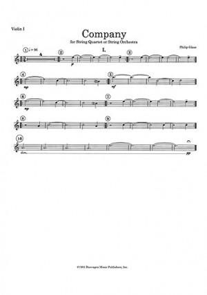 Philip Glass: String Quartet No 2 'Company' | Presto Sheet Music