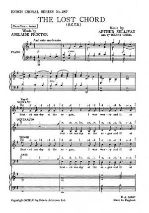 Arthur Sullivan The Lost Chord Satb Presto Sheet Music