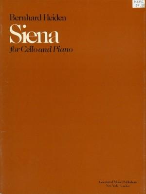 Bernhard Heiden: Siena