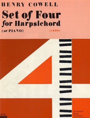 Henry Cowell: Set Of 4 For Harpsichord