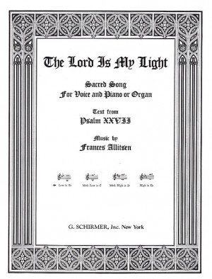 Frances Allitsen: Lord Is My Light In B Flat (Low Voice/Piano)