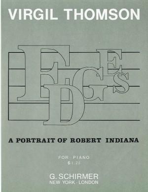 Virgil Thomson: Edges (Portrait Of Robert Indiana)