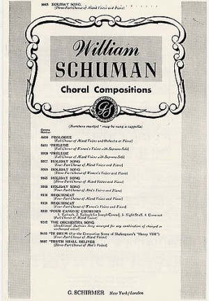 W Schuman: Holiday Song