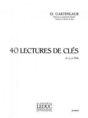 Gartenlaub: 40 Lectures De Cles 2 3 Ou 4 Cles
