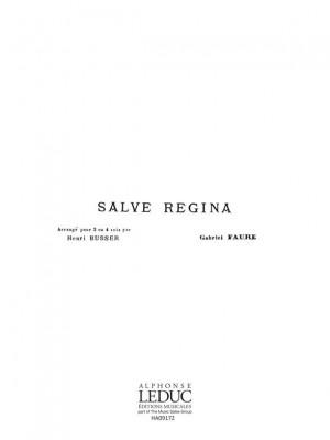 Gabriel Fauré: Salve Regina (SATB/Piano) Product Image