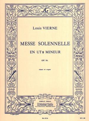 Vierne: Messe solennelle en ut# mineur pour chant et deux orgues
