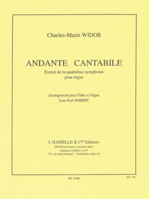 Charles-Marie Widor: Charles Marie Widor: Andante cantabile