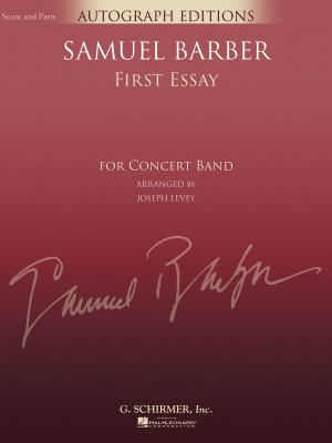 barber first essay for orchestra op page of presto  barber first essay arr