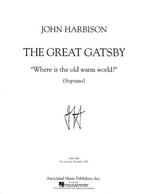 Harbison: Where Is the Old, Warm World?