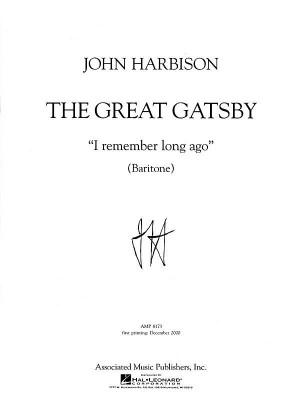 Harbison: I Remember Long Ago