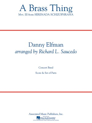 Danny Elfman: A Brass Thing (From 'Serenada Schizophrana'). Score & Parts