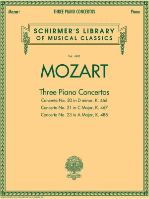 Wolfgang Amadeus Mozart: Three Piano Concertos